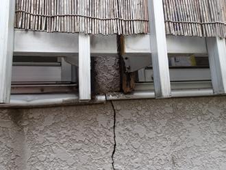 大井町金手でモルタル外壁に発生したクラックの補修のご相談