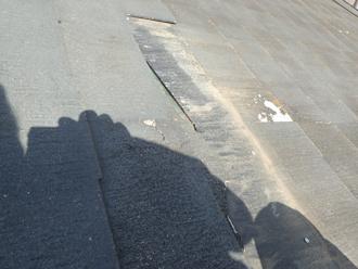 寒川町一之宮でスレート屋根を点検、割れや脱落は屋根塗装してないからではありません