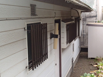 横浜市金沢区 外壁塗装前の点検 外壁の汚れ