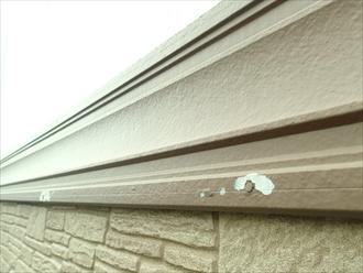 横浜市泉区で外壁屋根塗装工事の現地調査 釘周りの塗料のはがれ