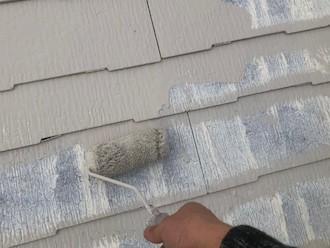 横浜市磯子区田中にてサーモアイSi(クールクリーム)でスレート屋根の塗装、遮熱塗料で暑い夏を快適に過ごしましょう