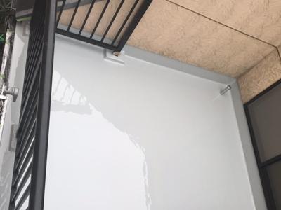 ウレタン防水で雨漏りを解消したバルコニー