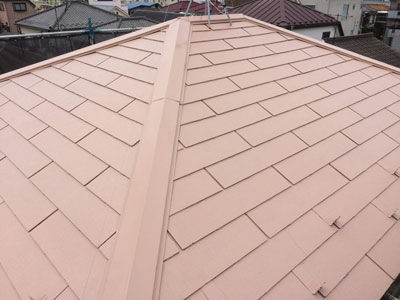 相模原市中央区宮下で遮熱塗料のサーモアイでスレート屋根塗装、施工後写真