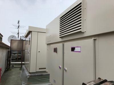 秦野市渋沢上にて養護施設屋上のキュービクルと非常用発電機をファインSiで塗り替え、施工後写真