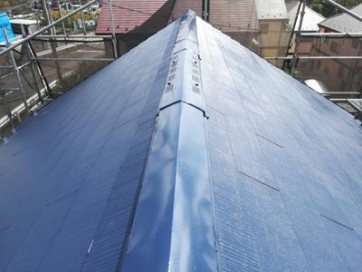 大井町金子にて築12年目のスレート屋根を屋根塗装でメンテナンス、施工後写真