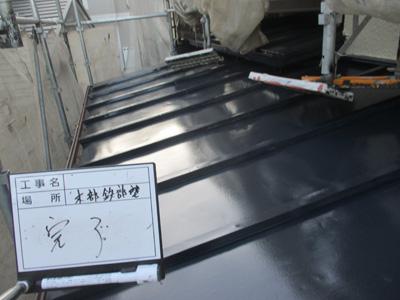川崎市高津区久地で錆が出始めた瓦棒屋根をファインSiで塗り替えてメンテナンス、施工後写真