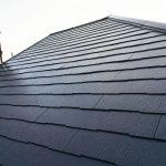 サーモアイSiのクールジェノバブラウンを使用したスレート屋根塗装が完了