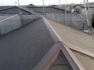 屋根葺き替え、完了