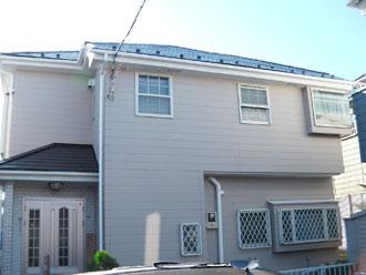 外壁塗装 ナノコンポジットW 屋根塗装 サーモアイシリコン 棟板金交換|横浜市 施工後