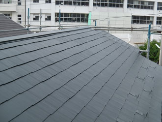 横浜市磯子区 屋根塗装 棟板金交換施工後