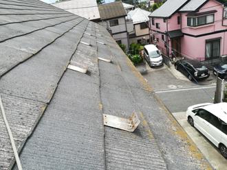 築12年、屋根塗装前のスレート屋根