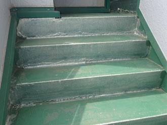 塗装後5年経過した階段
