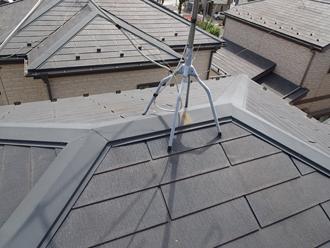相模原市中央区宮下で遮熱塗料のサーモアイでスレート屋根塗装、施工前写真