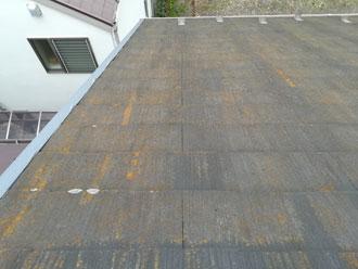 相模原市緑区久保沢でラジカル塗料ファインパーフェクトベストでスレート屋根塗装、施工前写真