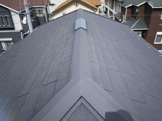 伊勢原市神戸にて残暑厳しい時期に遮熱塗料サーモアイ4Fでスレート屋根塗装、施工中に台風15号通過!、施工前写真