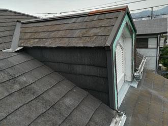 相模原市緑区三ケ木にて遮熱塗料サーモアイの中でも最高の全日射反射率を誇るクールホワイトでスレート屋根塗装、施工前写真