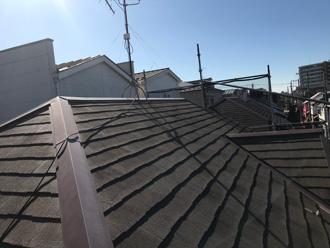 川崎市宮前区西野川にて遮熱塗料サーモアイでスレート屋根塗装して酷暑対策、施工前写真