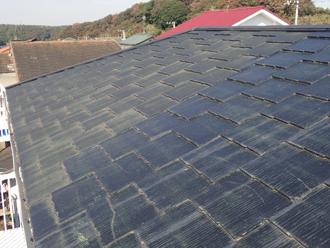 スレート屋根、塗装前