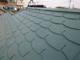 屋根塗装 サーモアイSi クールミラノグリーン