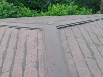 横浜市金沢区 屋根塗装 棟板金交換 施工前