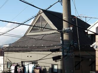 横浜市港北区 屋根塗装 棟板金交換 施工前