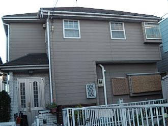外壁塗装 ナノコンポジットW 屋根塗装 サーモアイシリコン 棟板金交換|横浜市 施工前
