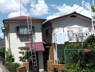 横浜市中区 外壁塗装 屋根塗装 施工前
