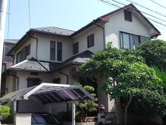 横浜市栄区 屋根カバー・外壁塗装 クリーンマイルドSi 施工前