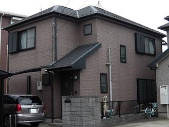 横浜市港北区 屋根カバー 外壁塗装 施工前