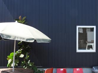 ガルバリウム鋼板のオシャレな住宅
