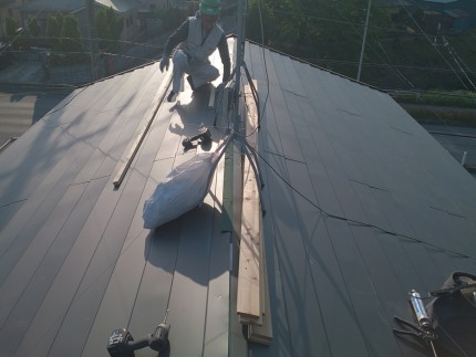 上からみた屋根