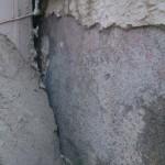 テナントビル外壁割れ
