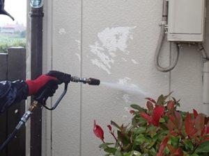 高圧洗浄の作業
