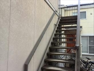 伊勢原市のアパート外壁塗装工事の現地調査