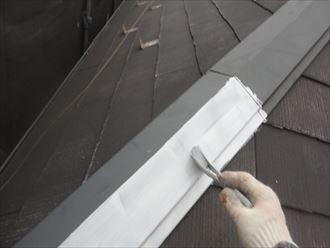 屋根,下塗り
