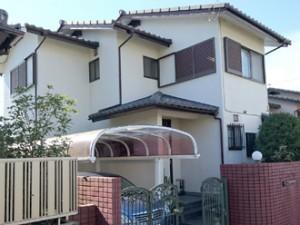 屋根塗装 外壁塗装 屋根の色 外壁の色 ハーフマイルドフッ素 パーフェクトトップ ワインレッド ウェザードグリーン