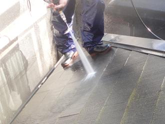 秦野市 屋根塗装 高圧洗浄