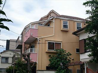 横浜市保土ケ谷区|超高耐久サーモアイ4Fとエラストコートの屋根外壁塗装、施工前写真