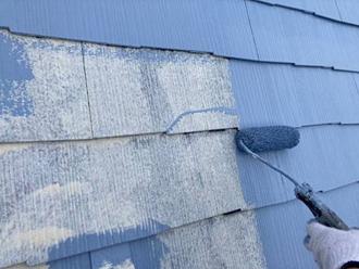 横浜市港北区高田で高耐久フッ素塗料のサーモアイ4Fで屋根塗装、クールネオウィスタブルーで爽やかな雰囲気に