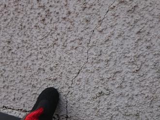 相模原市南区双葉にてお住まいの点検調査、モルタル外壁で発生する小さなクラックは塗装でメンテナンスができます