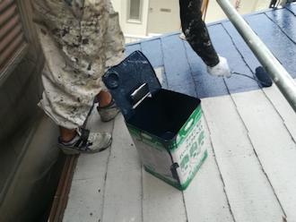 横浜市港北区綱島台にて劣化していたスレート屋根をファインパーフェクトトップ(ナスコン)で塗装、屋根が生まれ変わりました