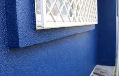 フッ素塗料で外壁塗装したお住まい 1階部分アップ