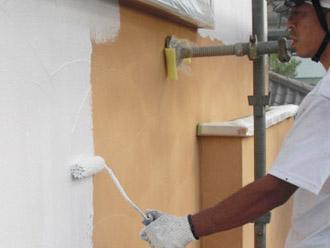 厚木市 外壁塗装 下塗り