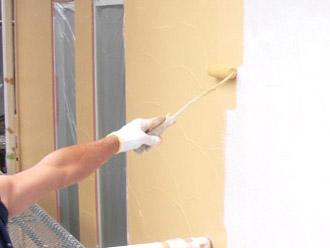 厚木市 外壁塗装 中塗り