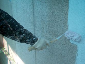 座間市 外壁塗装 下塗り
