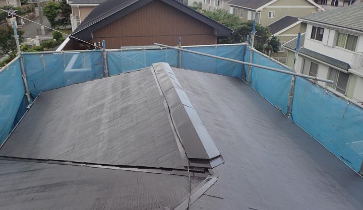 屋根塗装竣工