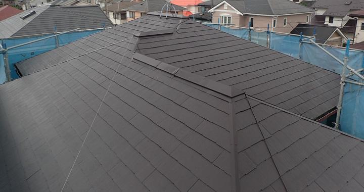 屋根塗装後、別角度