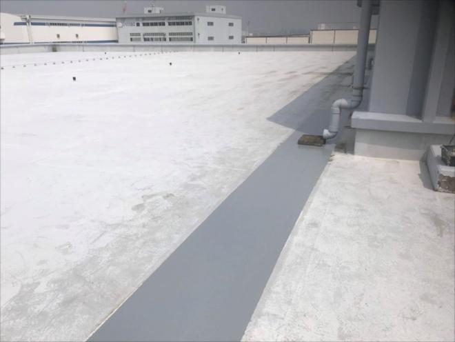 横浜市金沢区幸浦にて屋上から雨漏り、原因箇所のウレタン補修工事