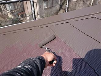横浜市栄区上郷町にてファインパーフェクトベストのニューブラウンで屋根塗装