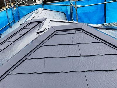 中郡大磯町石神台にて築16年になるお住まいの外壁をパーフェクトトップ、屋根をサーモアイSiで塗装しました、施工後写真